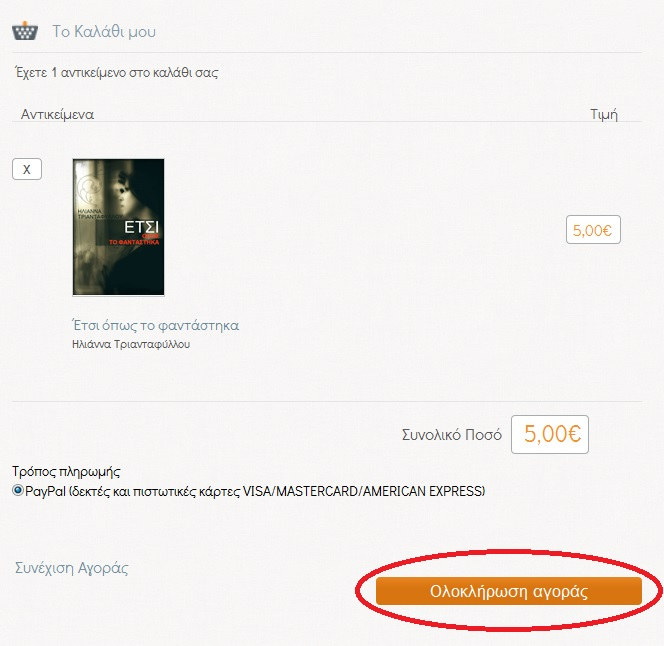 Οδηγιες για αγορά βιβλίου μέσω paypal